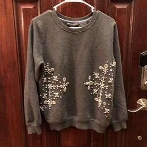 Anthropologie Hemant & Nandita Jeweled Sweatshirt